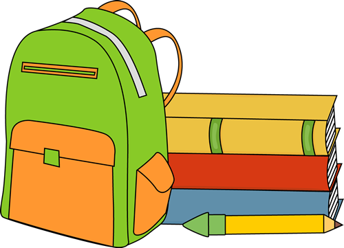 Books and Backpack Clip Art - Books and Backpack Image