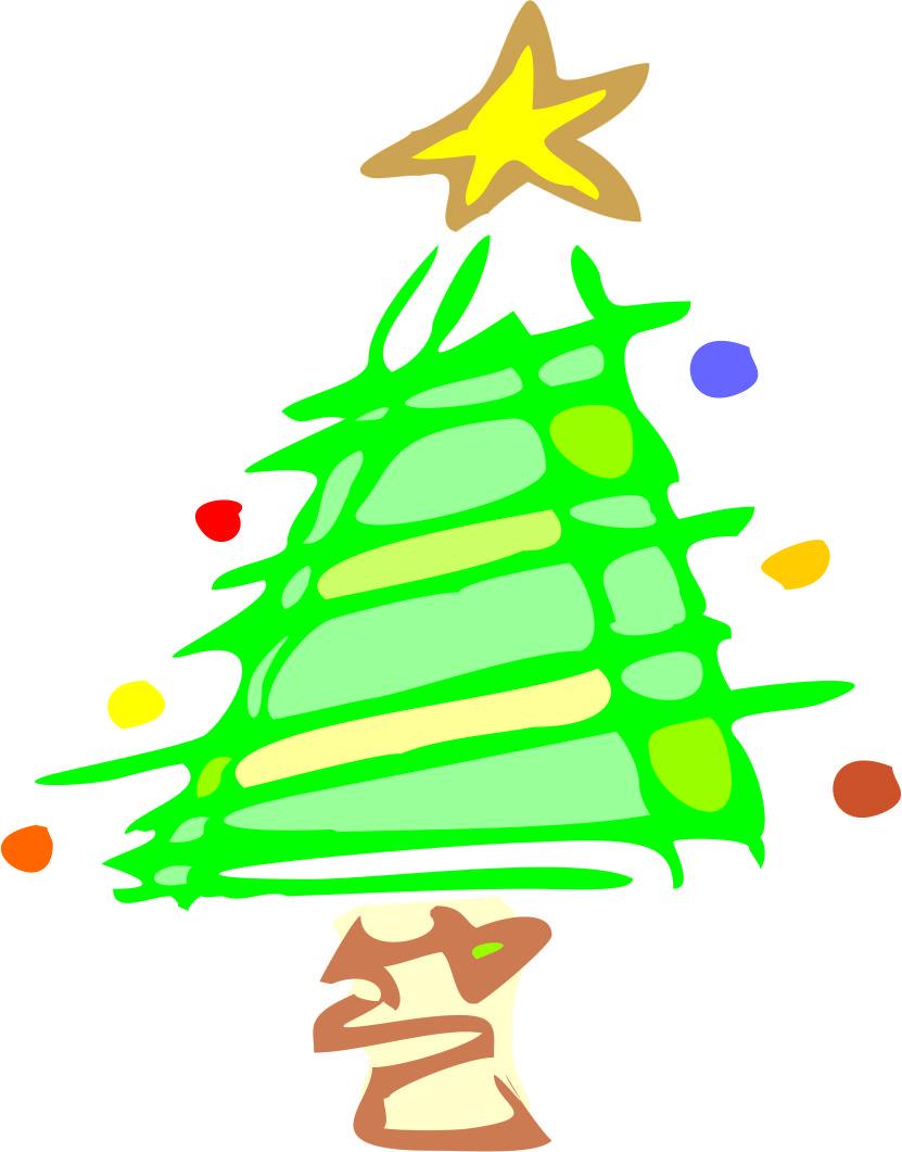 xmas tree cartoon clip art - photo #22