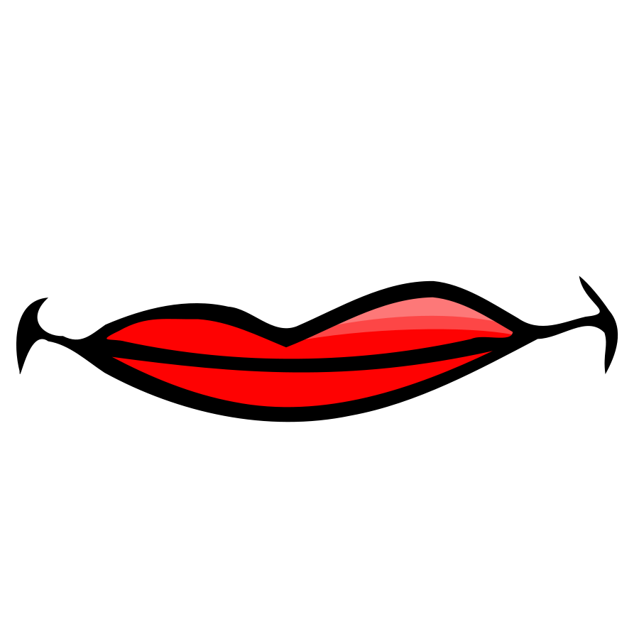 Smiling Red Lips - Cliparts.co