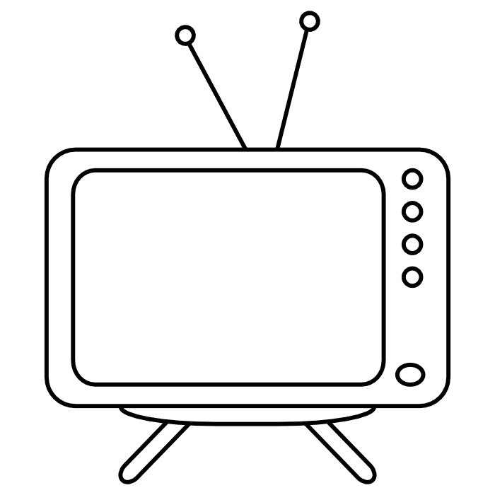 Television pictures for Tv coloring page