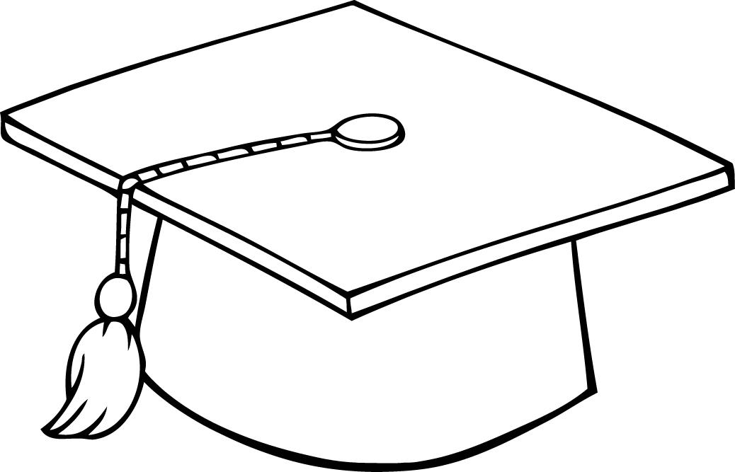 Graduation cap drawings for Cap coloring page
