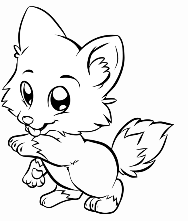 Cute puppy clip art for Cute puppies coloring pages