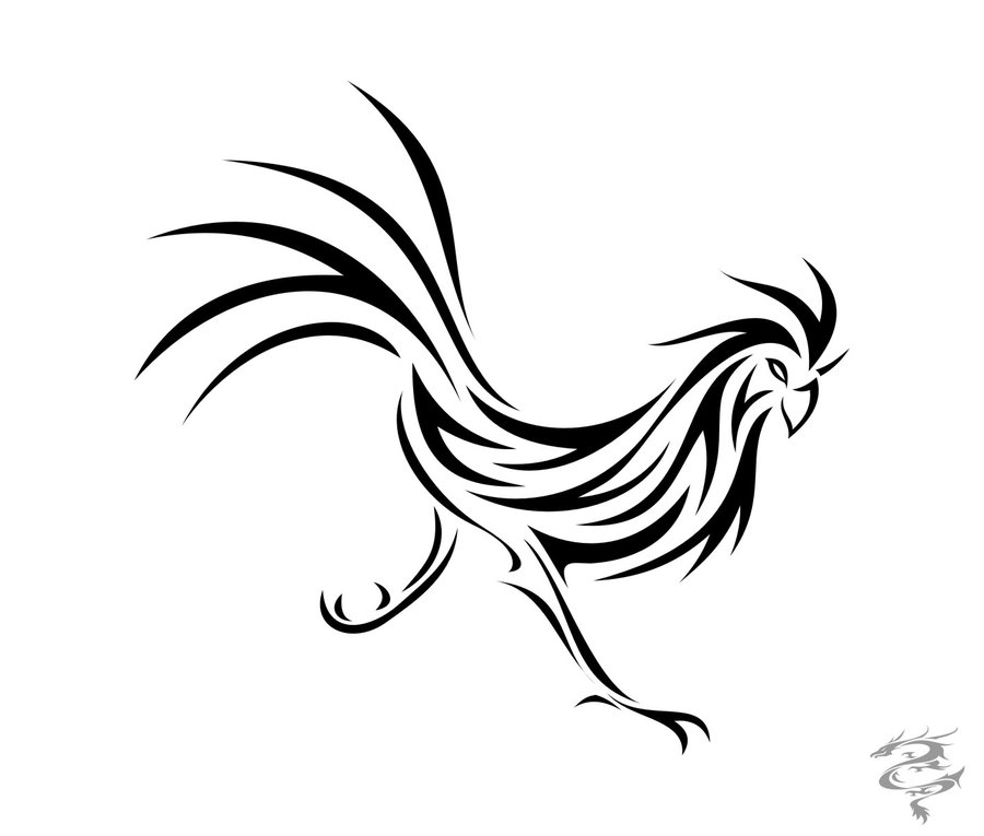 Fighting rooster coloring pages
