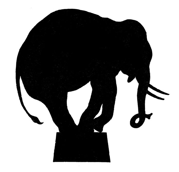 Vector Image Downloads - Circus Elephant Silhouette