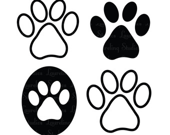 Popular items for paw print clipart on Etsy