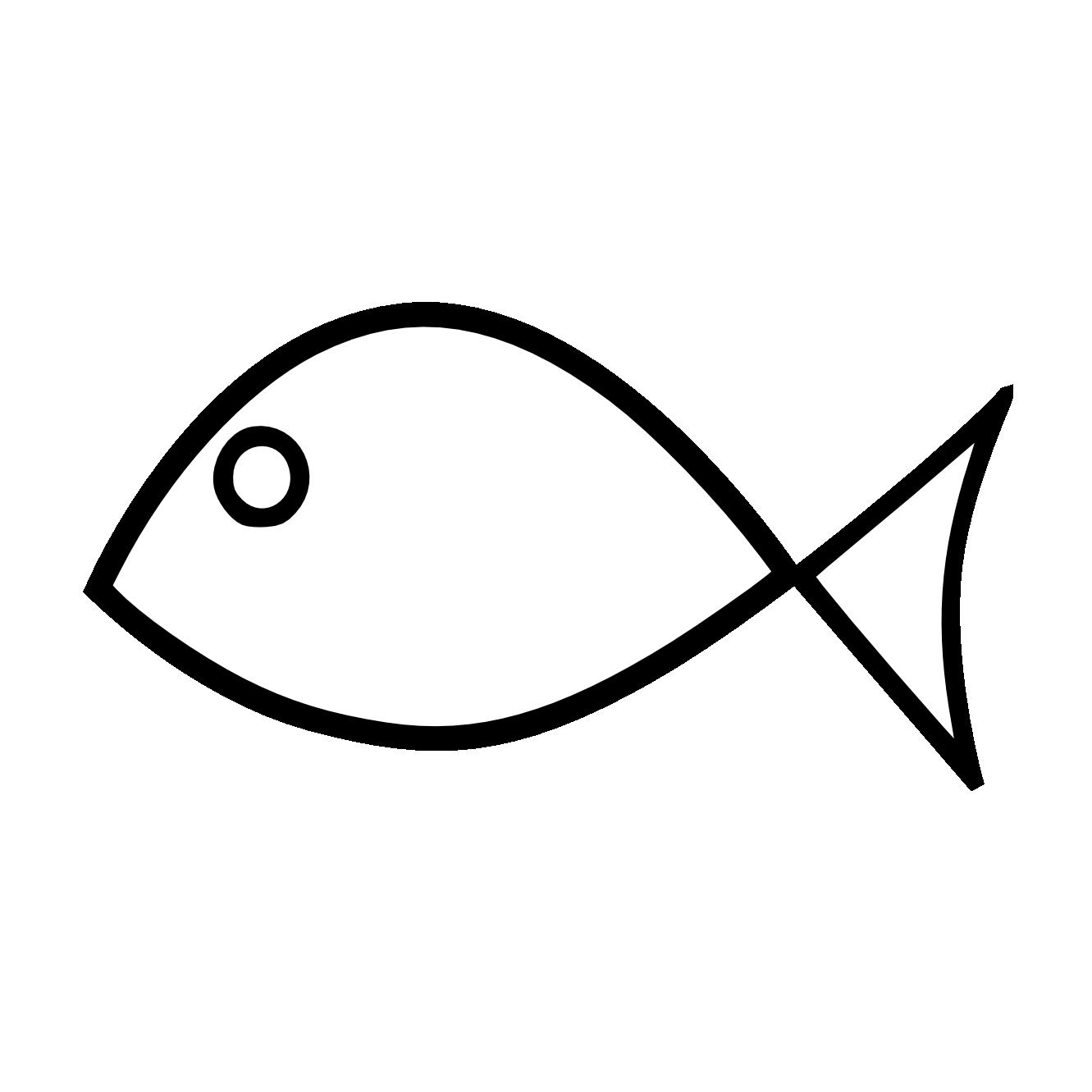 Fish Clip Art Black and White