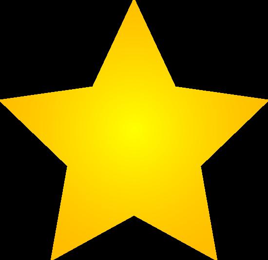 Gold Star Clipart No B...