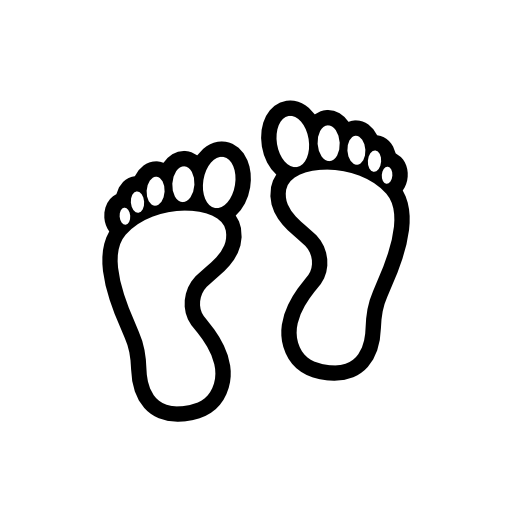 Footprint Outline - Cliparts.co