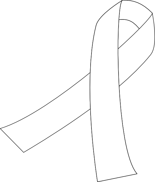 Lung Cancer Ribbon Clipart