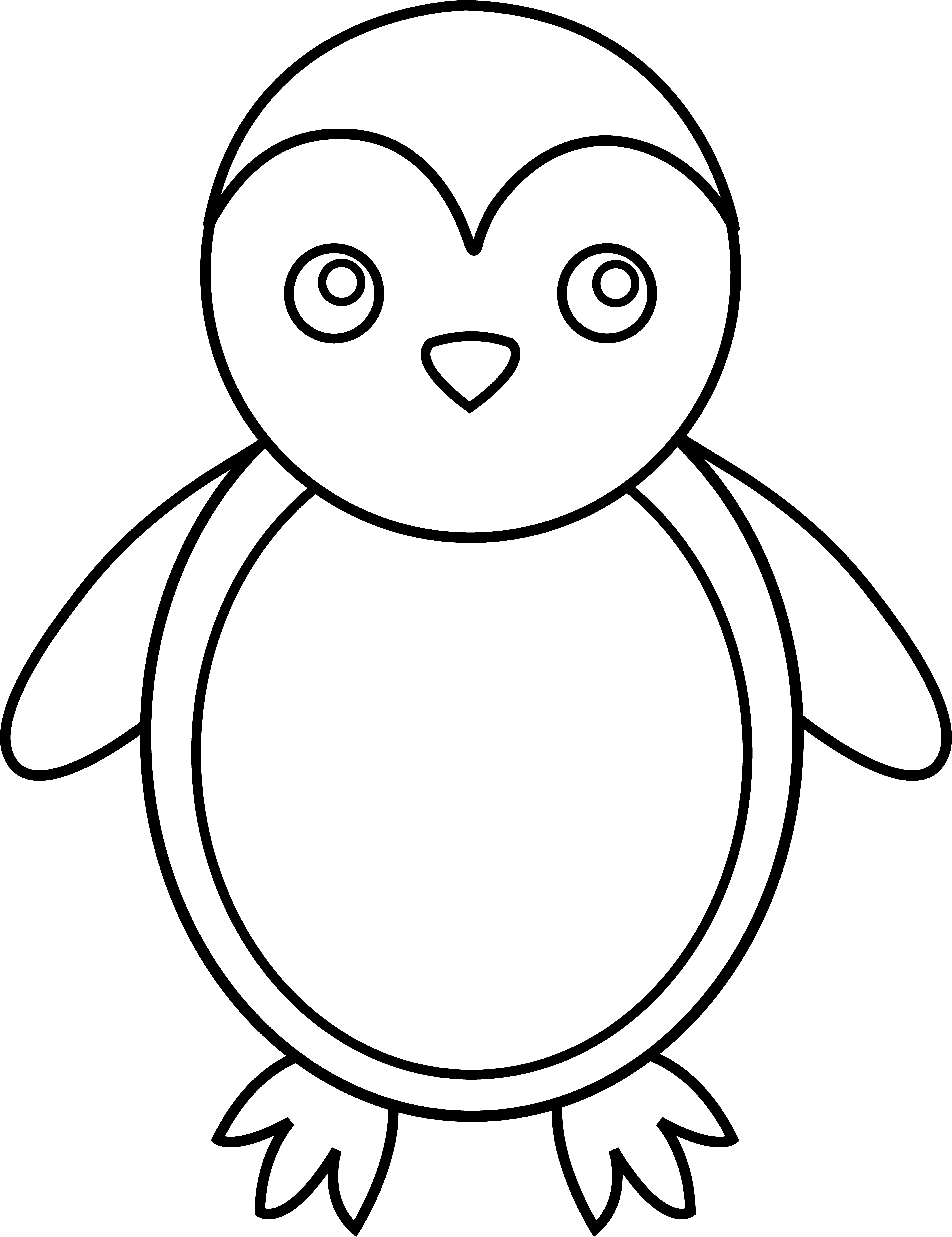 Clipart Animal Simple Line Drawing : Antarctica clipart cliparts