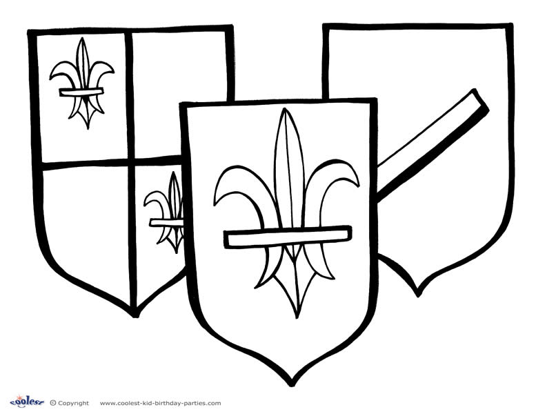 a sheild Colouring Pages (page 3)