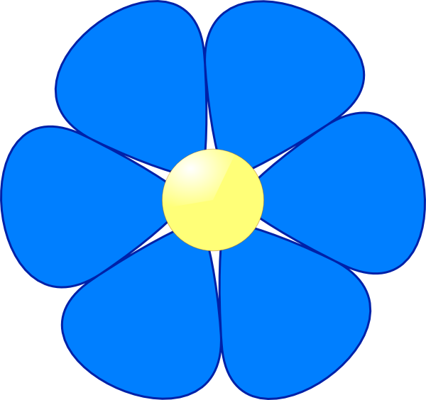 small blue flower clipart rh worldartsme com blue flower clipart images blue flower clipart images
