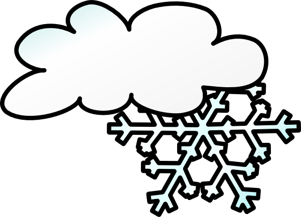 Winter Cloud Snow Flake clip art - vector clip art online, royalty ...