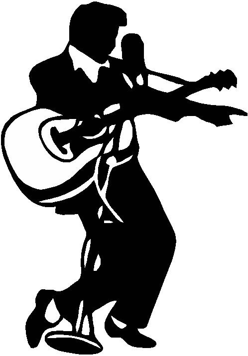 Elvis Silhouett... Elvis Clipart Graphics Free