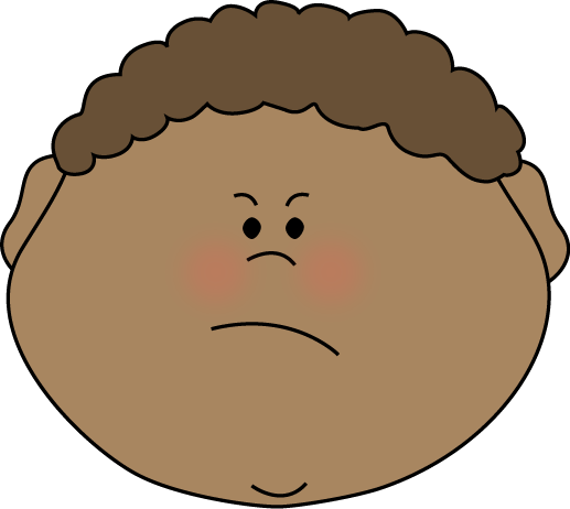 angry kid face clip art - photo #3