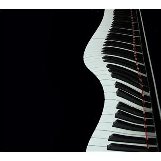 Piano keys in a wavy line clip art. | Music Clip Art | Pinterest