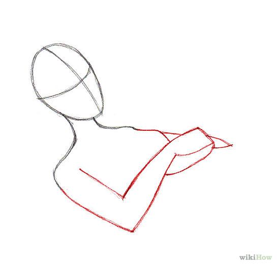 Man sleeping in bed drawing