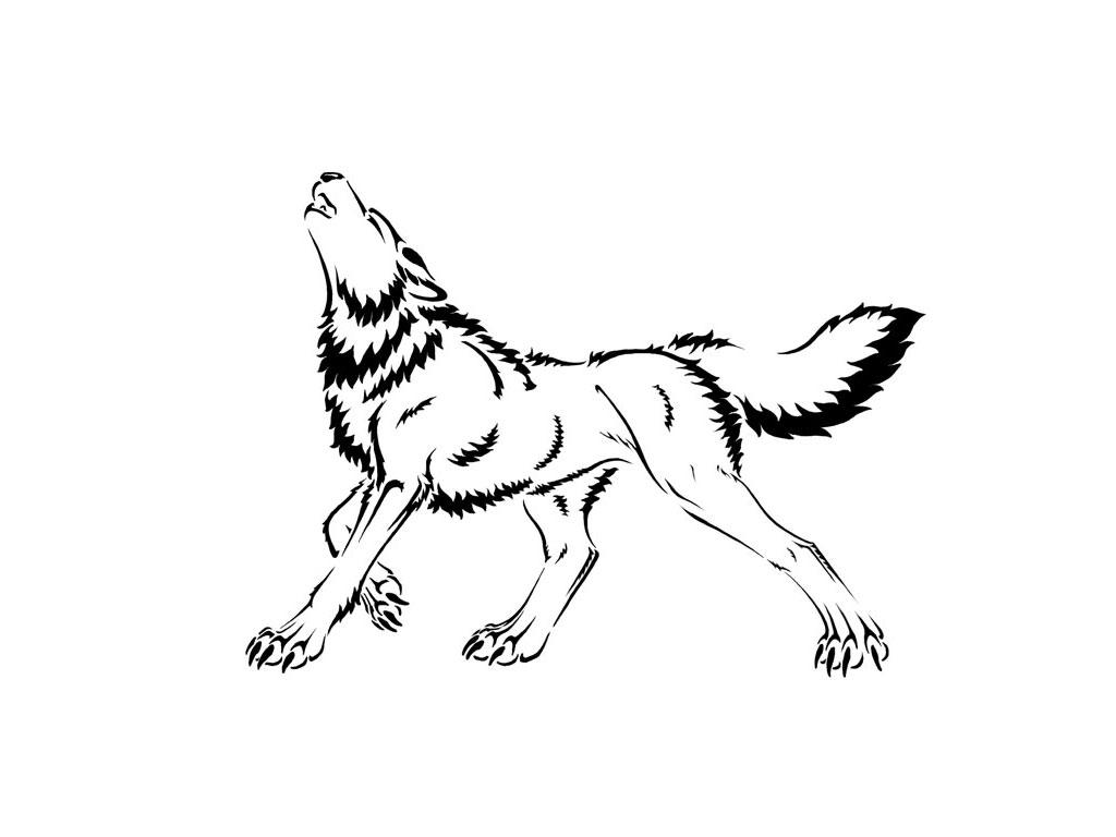 Cartoon wolf howling drawings - photo#6