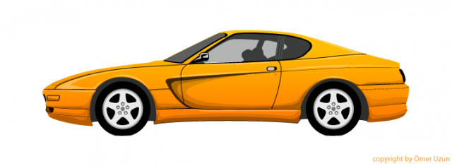 Yellow Vector Car 640x235 Png Cliparts Co