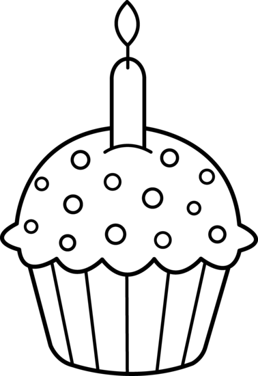 Cupcake Outline Clip Art - Cliparts.co