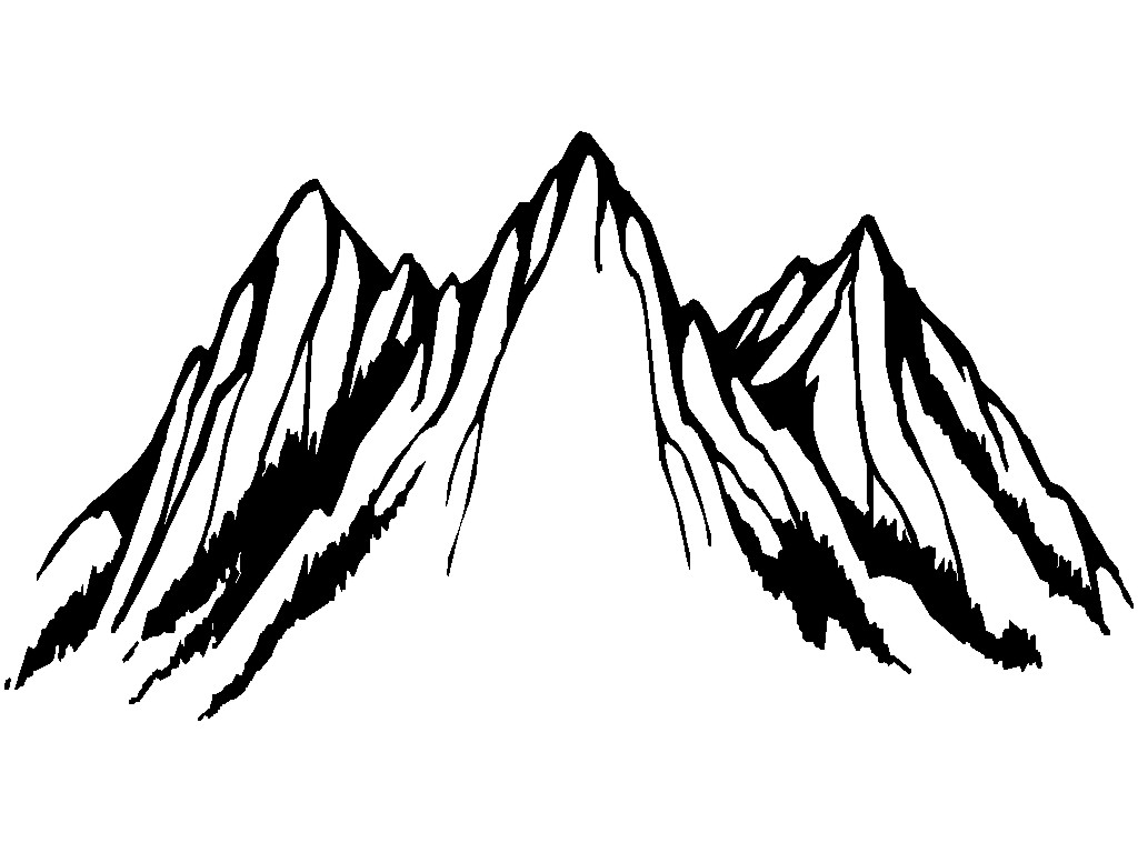 Line Art Mountains : Mountain line art cliparts