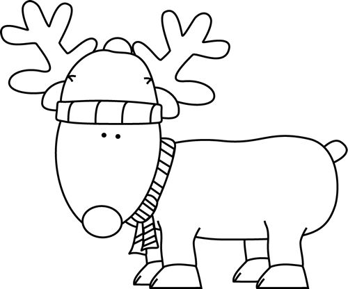 Black And White Christmas Clip Art - Cliparts.co