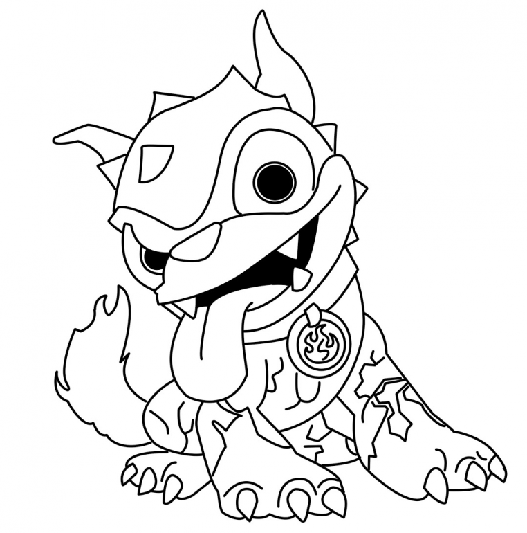 Skylanders Giants Coloring Pages Hot Dog | Online Coloring Pages