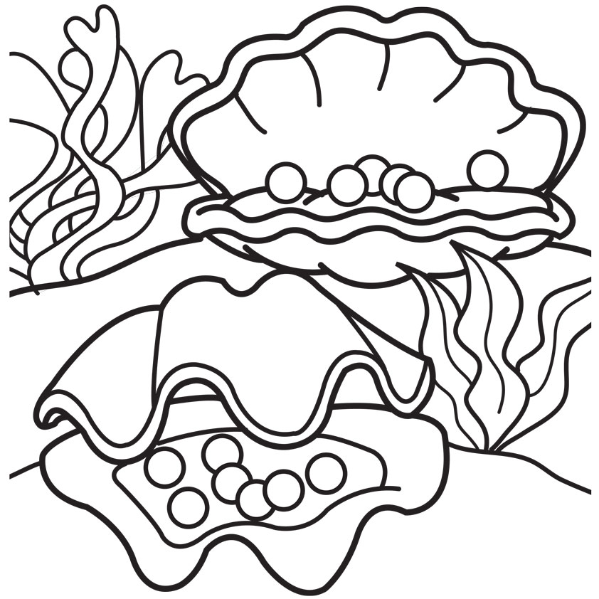 Oyster Free Coloring Pages