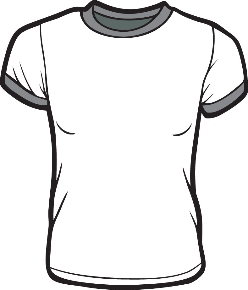 Scribble Drawing T Shirt : Printable t shirt template cliparts