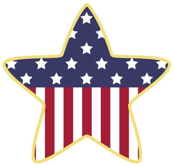 American Star Decoration PNG Clipart | 4th of July Digis | Pinterest