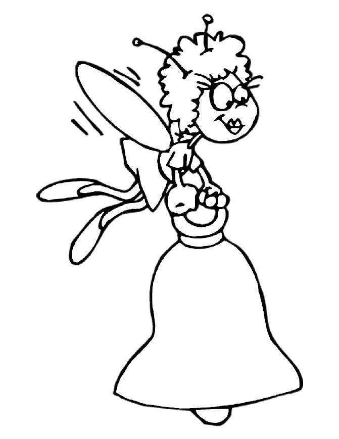 coloring pages of wedding bells - photo#8