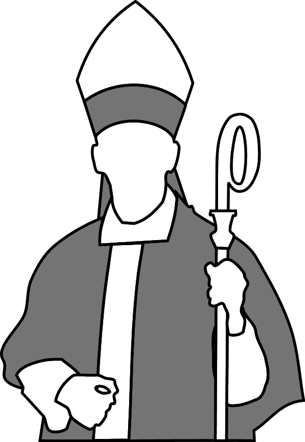 bishop - vector Clip Art