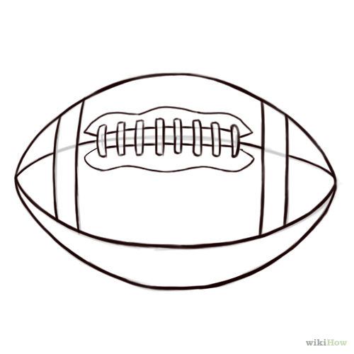 how to draw football logos step by step