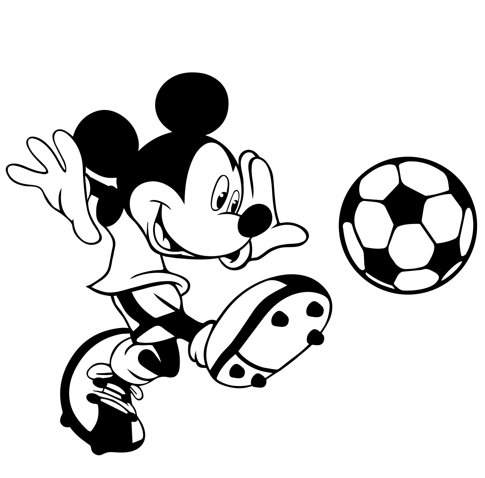 Mickey Mouse Black And White - Cliparts.co