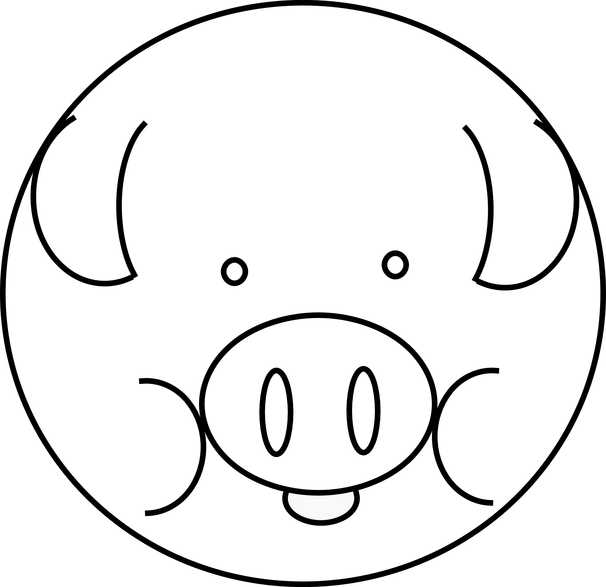 Black And White Coloring Book Pig Page Quick Start Guide Of Wiring Schlage Nd80pdeu Diagram Line Art Cliparts Co Hamster Pages Cow