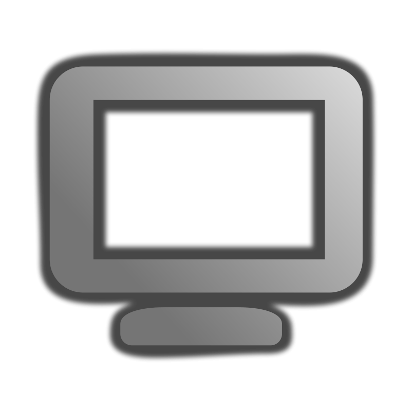 Black Computer Icon Png Computer icon Free Vector