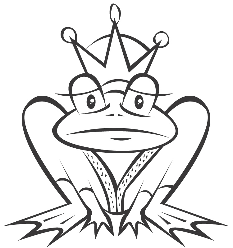 Frog princess coloring pages