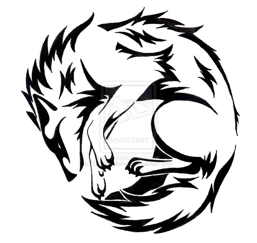 f4e966490 Running Wolf Tattoo - Cliparts.co