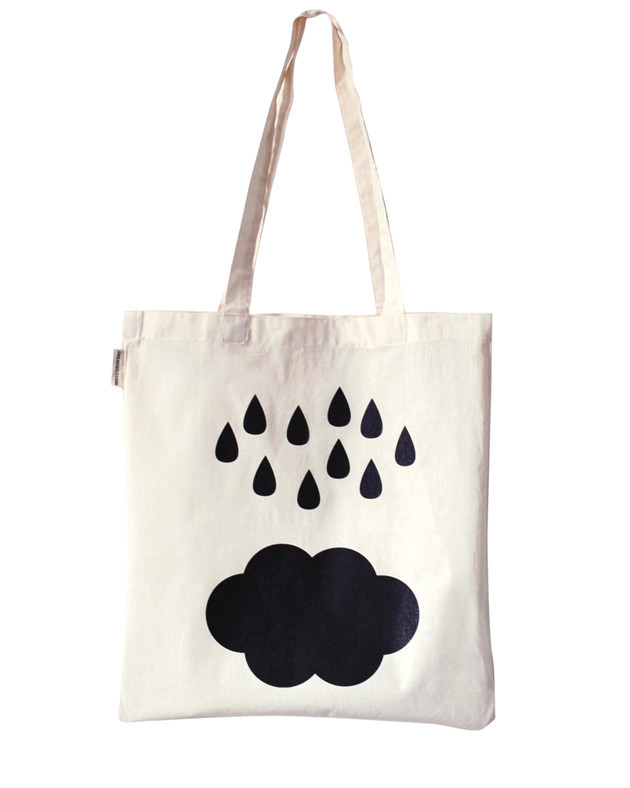 rain cloud tote bag tote bag by oelwein paris france design. Black Bedroom Furniture Sets. Home Design Ideas