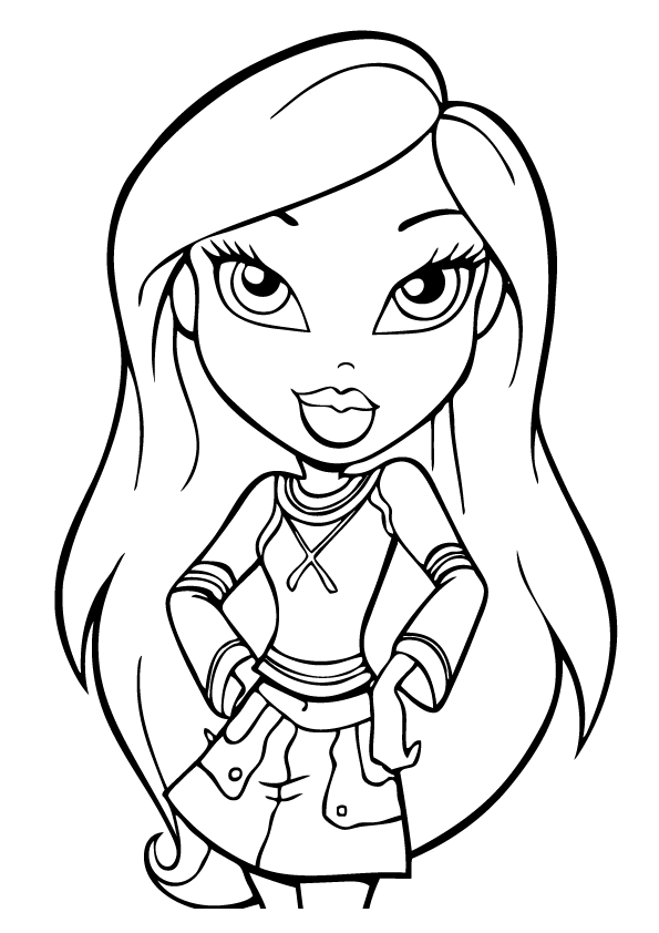bratz and princesses coloring pages - photo#7