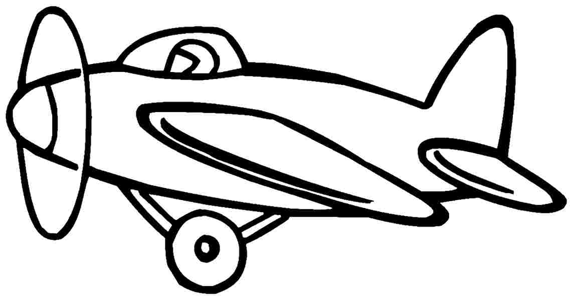 Transportation Air Plane Colouring Pages Printable For Kids & Boys