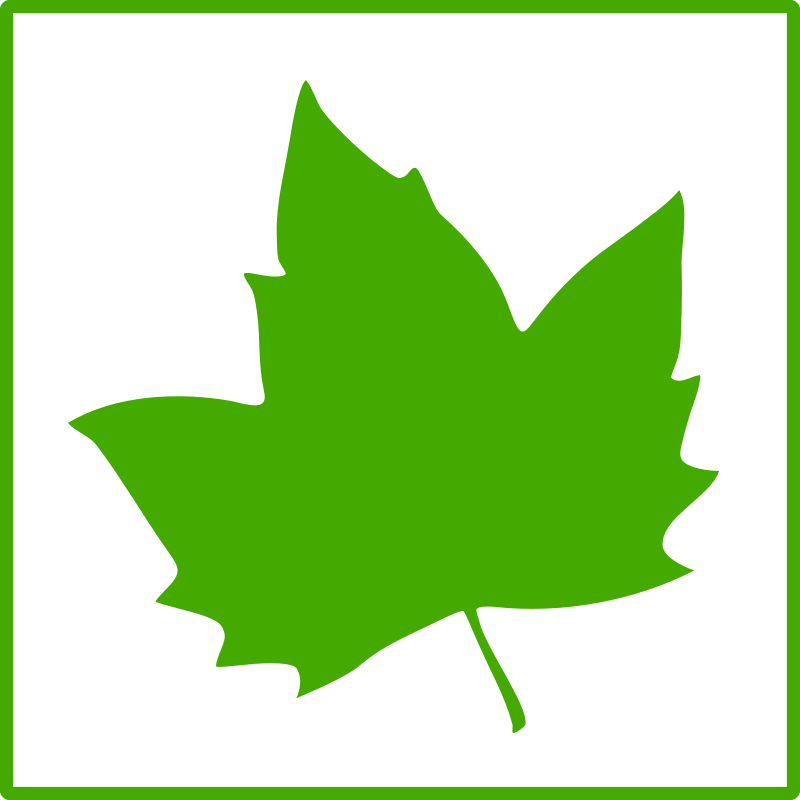 Clipart - eco green leaf icon