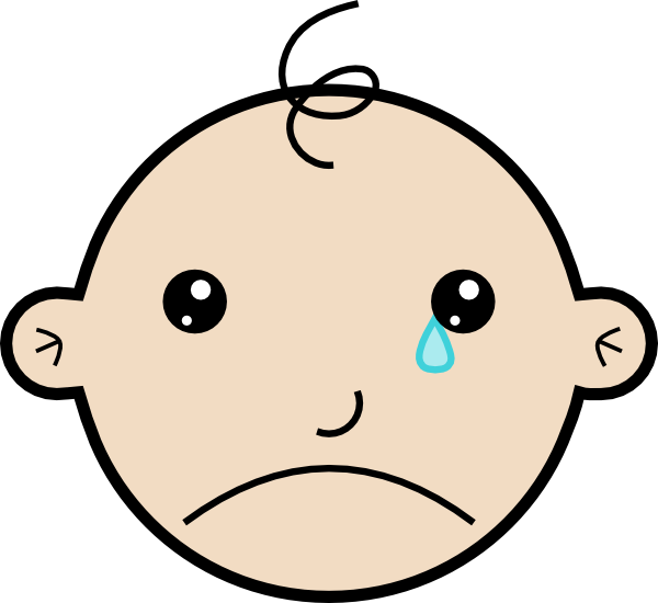 Baby Crying clip art - vector clip art online, royalty free ...