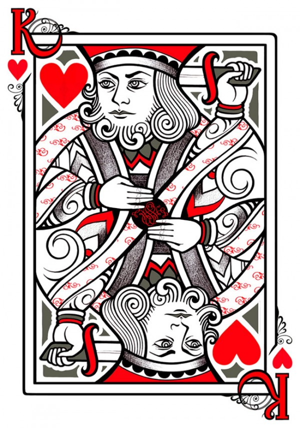 Heart playing cards for Suicide kings tattoo