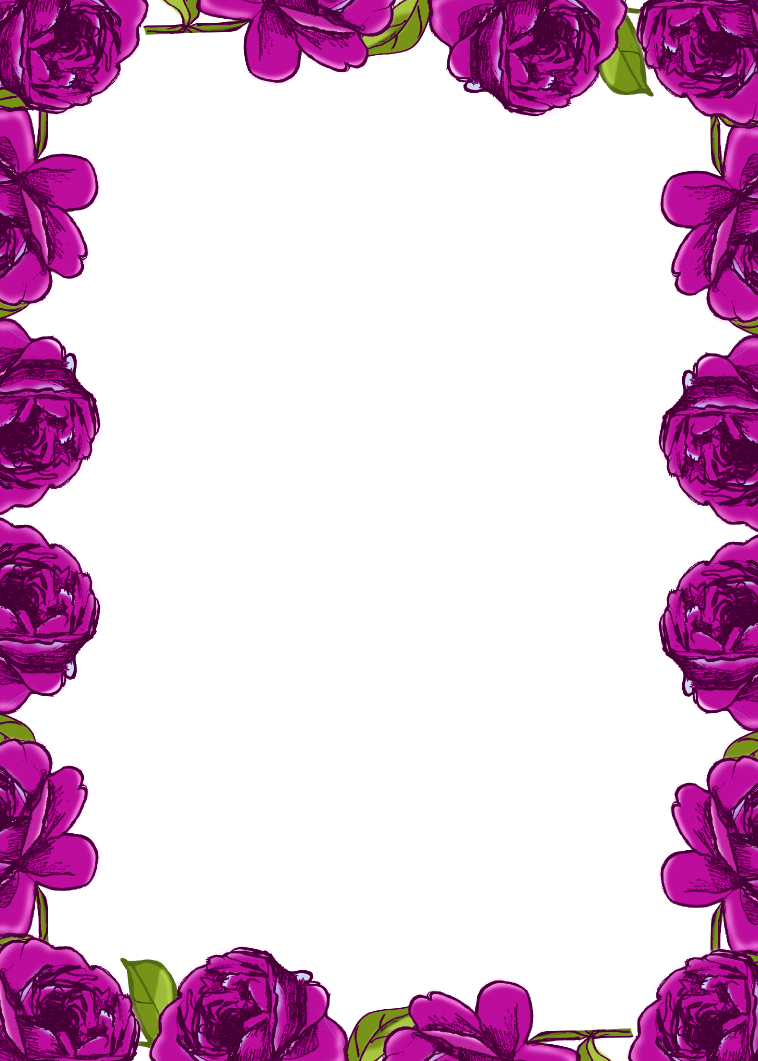 Purple flowers clip art border cliparts co -  Cliparts Co Printable Rose Border Page Border Designs Butterfly Page Borders Flower Border Free Images Of Lavender Flower Clip Art