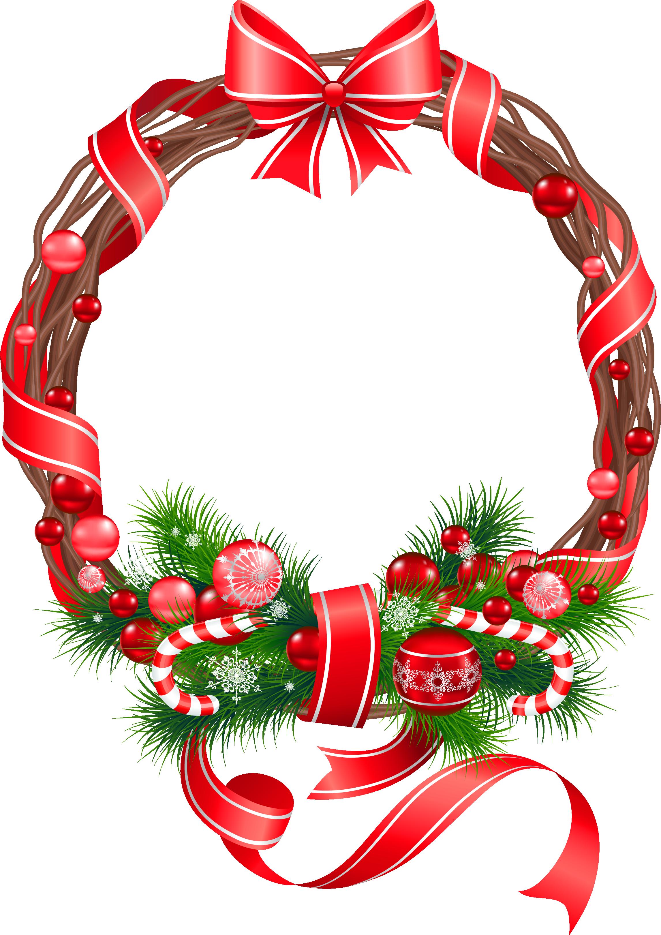 Free Christmas Wreath Clip Art - Cliparts.co