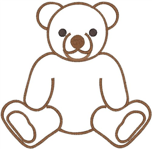 Teddy Bear Outline Clipart | Clipart Panda - Free Clipart Images
