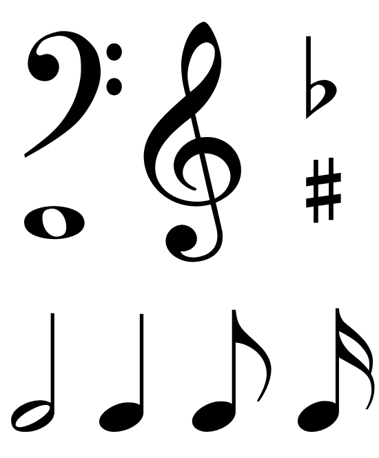 Single Music Notes Symbols | Clipart Panda - Free Clipart Images