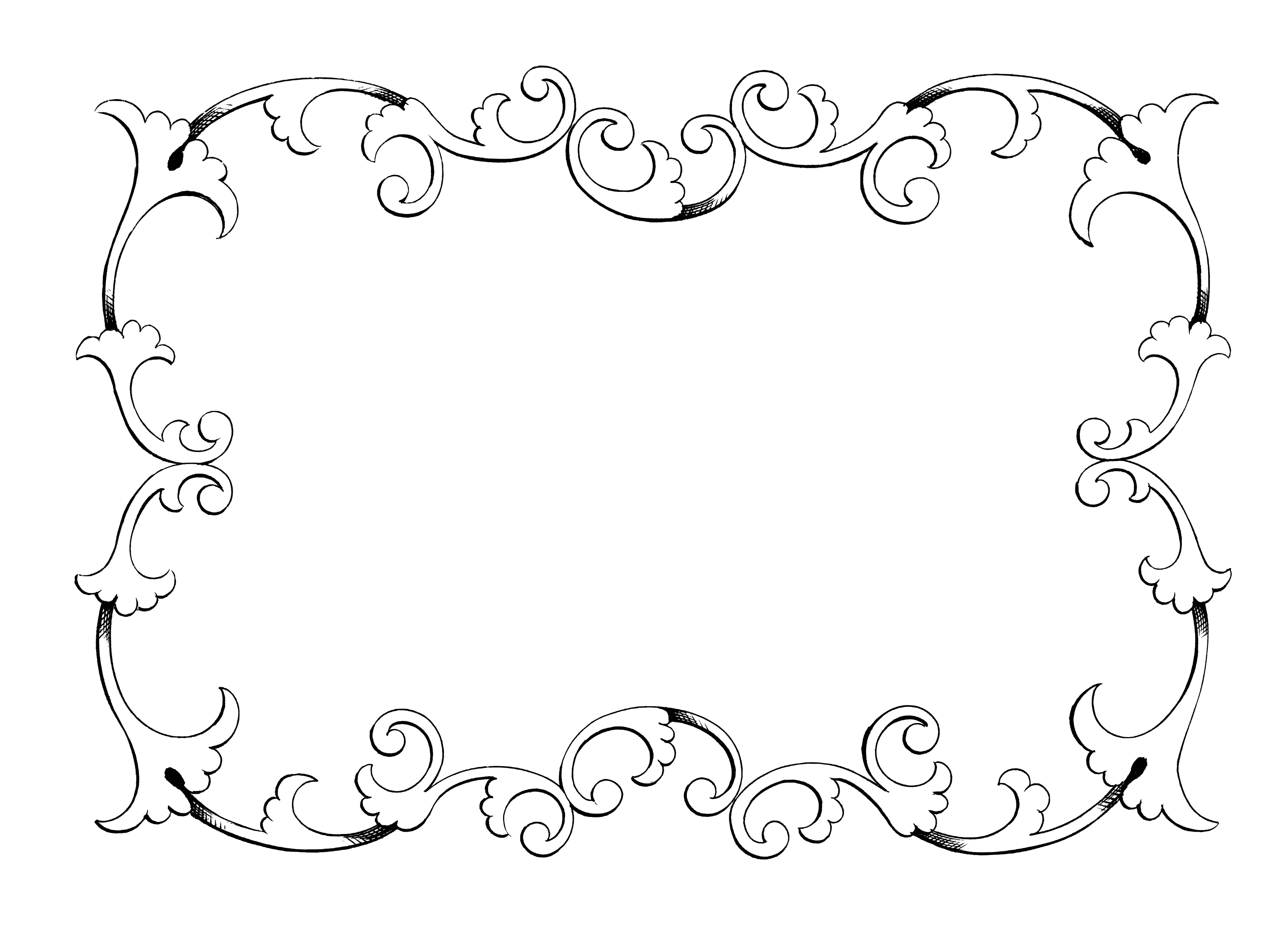 Calligraphy border cliparts