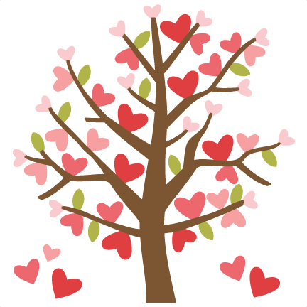 Valentine Tree SVG cutting files valentines day clipart cute ...